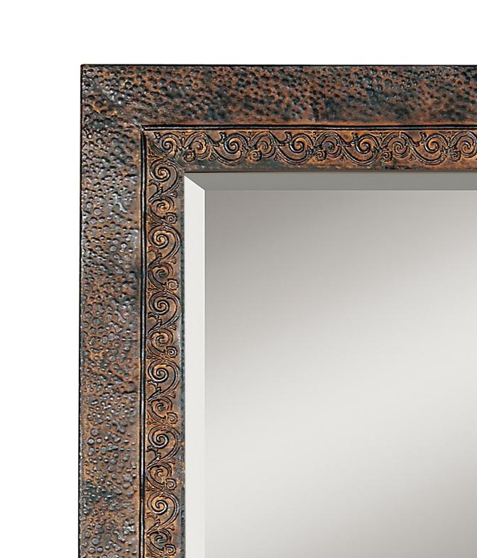 Miroir d co cadre m tallique patin miroir d coration for Miroir contour metal