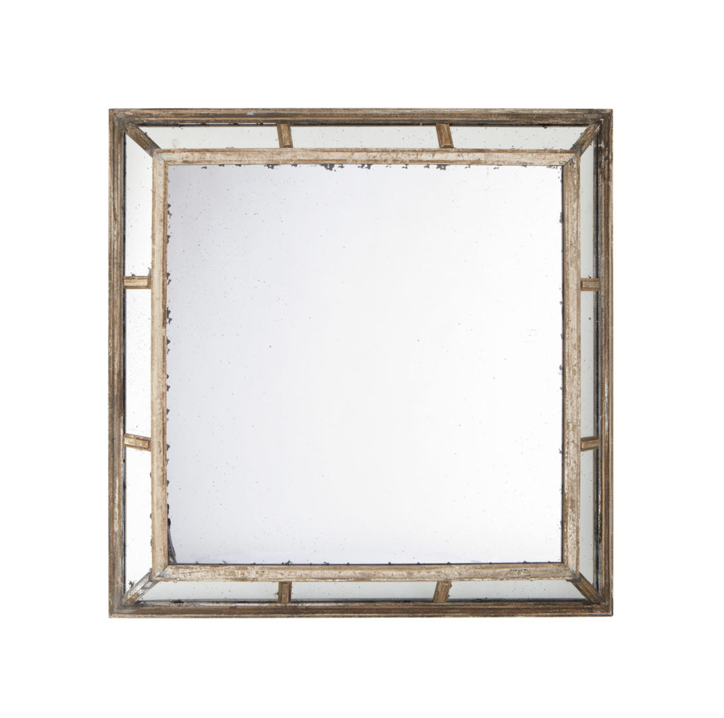 Miroir d co carr glace vieilli miroir d coration for Decoration de miroir